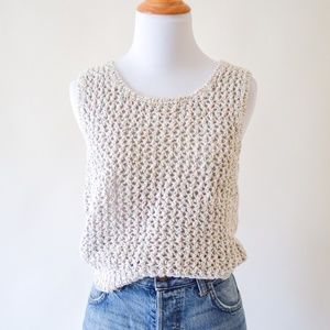 Vintage Metallic Thread Tank